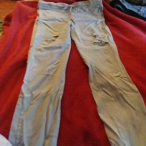 Pants - Stretchy material ripped pants never worn